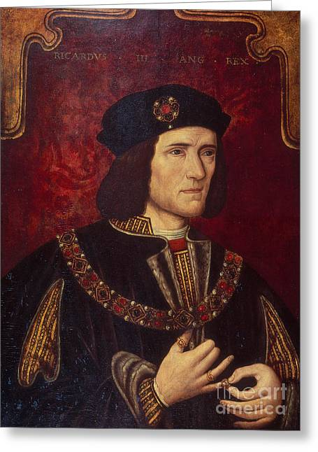 Medieval Greeting Cards - Portrait of King Richard III Greeting Card by English School