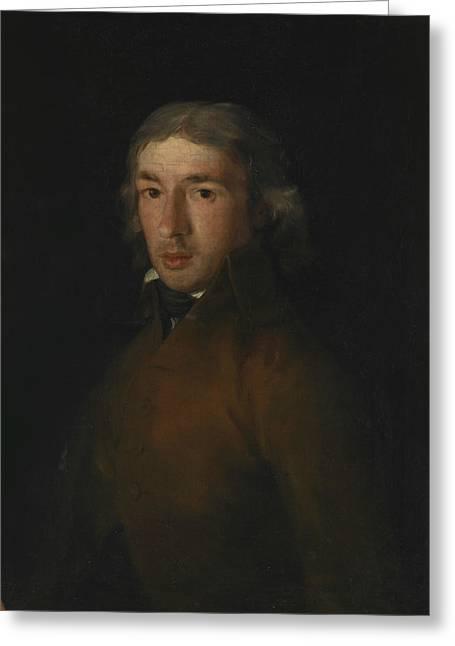 Portrait Of Leandro Fernandez Moratin Greeting Card by Francisco Goya