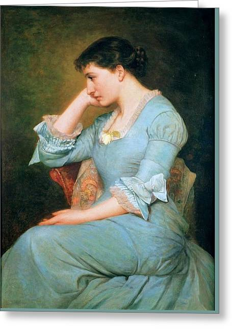 Portrait Of Lillie Langtry  Greeting Card by MotionAge Designs