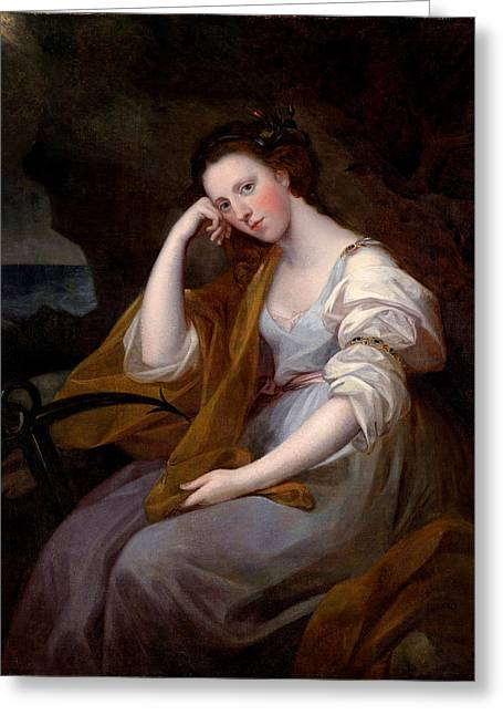 Pensive Greeting Cards - Portrait of Louisa Leveson Gower Greeting Card by Angelika Kauffmann