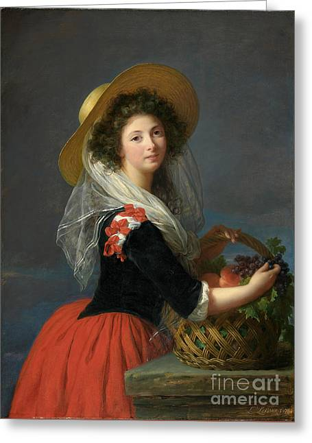 Portrait Of Marie Gabrielle De Gramont Greeting Card by Celestial Images