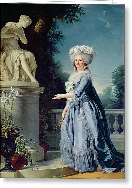 Louise Greeting Cards - Portrait of Marie-Louise Victoire de France Greeting Card by Adelaide Labille-Guiard