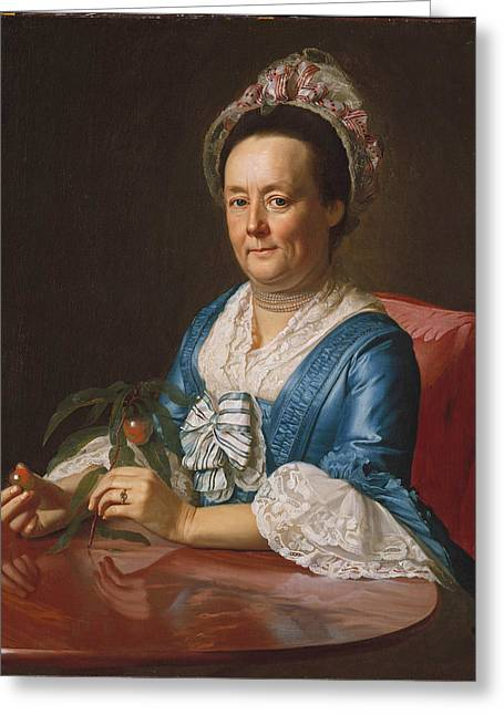 Portrait Of Mrs John Winthrop Greeting Card by John Singleton Copley