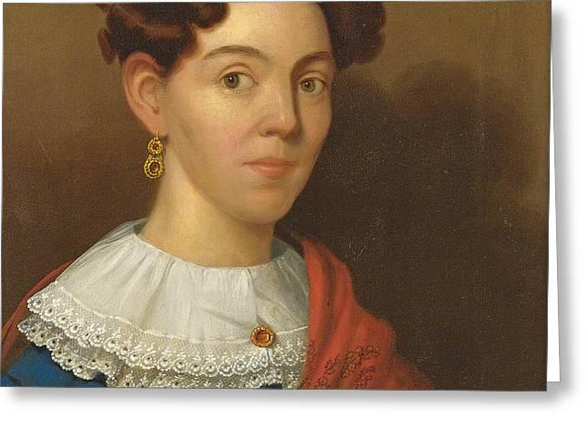 Portrait Of Mrs. Lawson Myrick Greeting Card by John Ritto Penniman