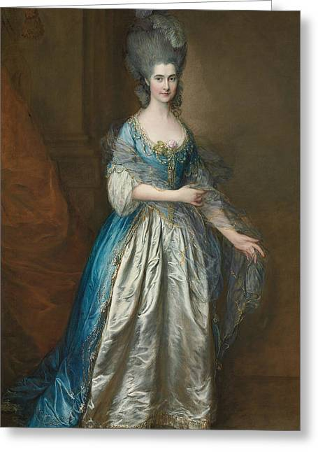 British Portraits Greeting Cards - Portrait of Mrs William Villebois Greeting Card by Thomas Gainsborough