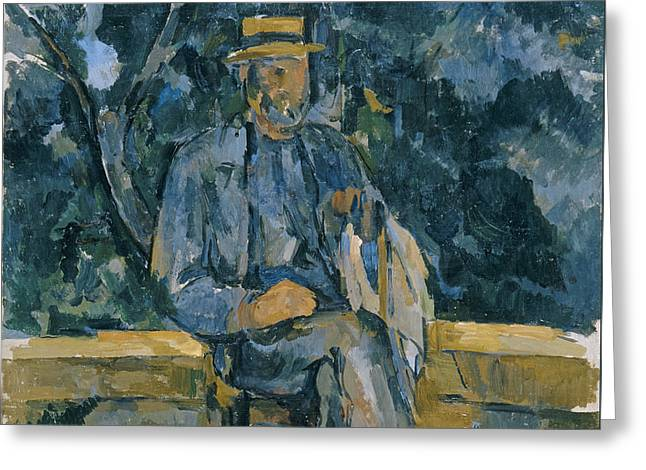 Portrait Of Peasant Greeting Card by Paul Cezanne