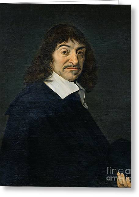 Fran Greeting Cards - Portrait of Rene Descartes Greeting Card by Frans Hals