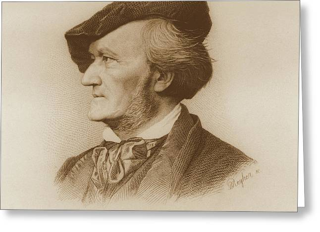 Portrait Of Richard Wagner Greeting Card by Robert Reyher
