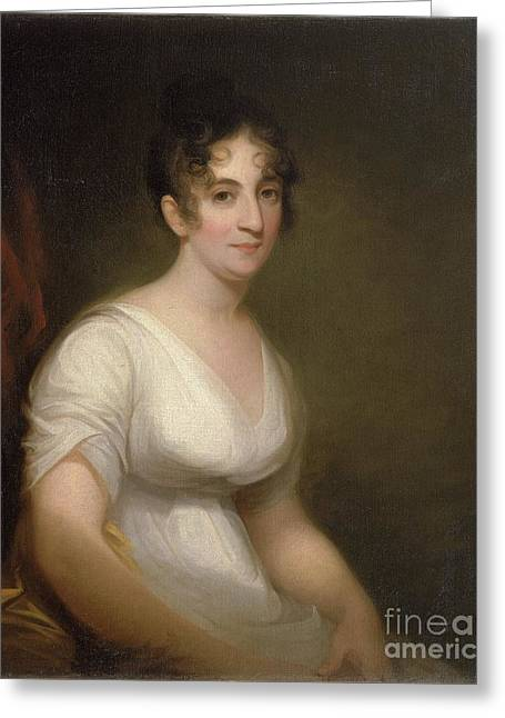 Sully Greeting Cards - Portrait of Sally Etting Greeting Card by Thomas Sully