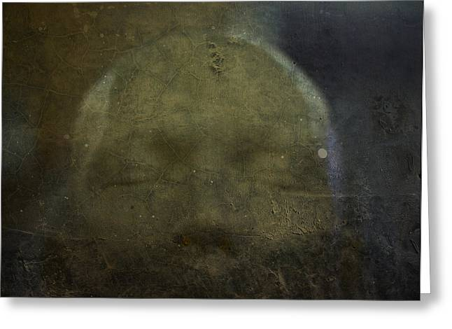 Head Dark Buddha Greeting Cards - Portrait of Serenity at Night Greeting Card by Voodoo Delicious