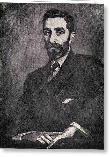 Rogers Drawings Greeting Cards - Portrait Of Sir Roger Casement Greeting Card by Ken Welsh