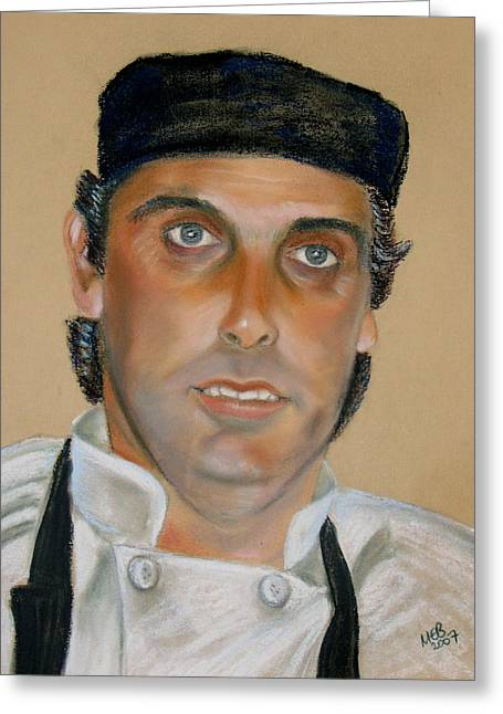 Uniform Pastels Greeting Cards - Portrait of the Head chef Greeting Card by Melanie Bourne
