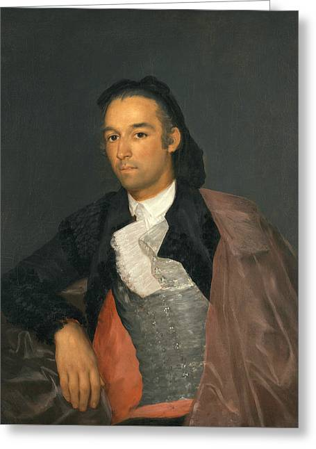 Portrait Of The Matador Pedro Romero Greeting Card by Francisco Goya
