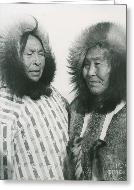 1950s Portraits Paintings Greeting Cards - Portrait of two indigenous women Greeting Card by Elisabeth  Meyer