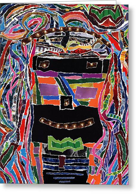 Substantial Greeting Cards - portrait of who   U  Me       or      someone U see  Greeting Card by Kenneth James