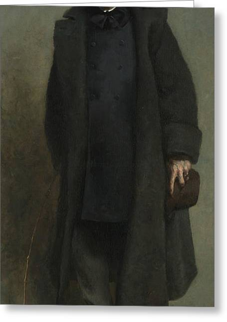 Portrait Of William Merritt Chase Greeting Card by James Carroll Beckwith