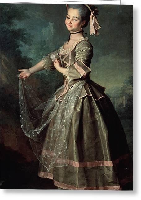 Portrait Of Yekaterina Nelidova Greeting Card by Dmitri Grigor'evich Levitsky
