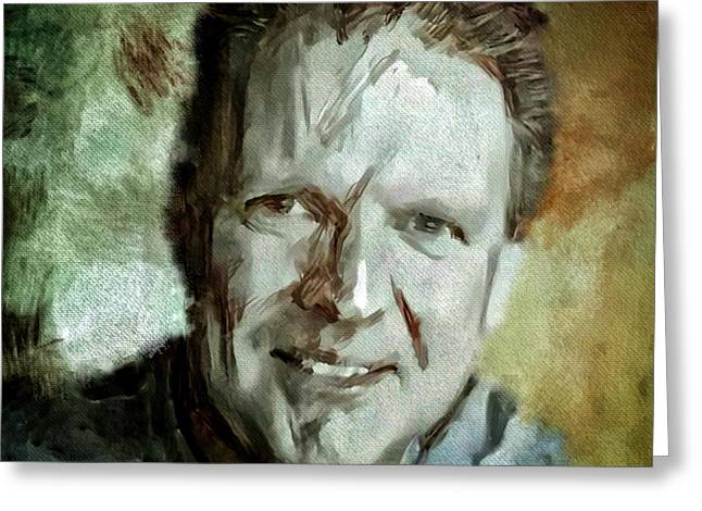 Portrait Painting Cinematographer Camera Operator Behind The Scenes Movie Tv Show Film Chicago Med Greeting Card by MendyZ