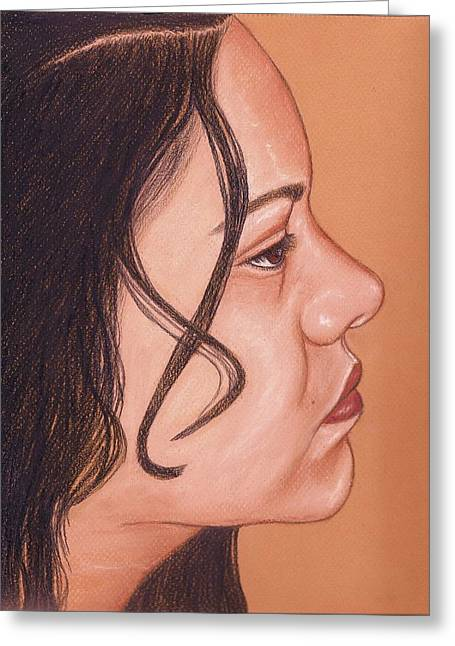 African-americans Greeting Cards - Portrait Greeting Card by Paula  Parker