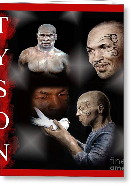 Photoshop Drawings Greeting Cards - Portraits of Tyson Greeting Card by Jim Fitzpatrick