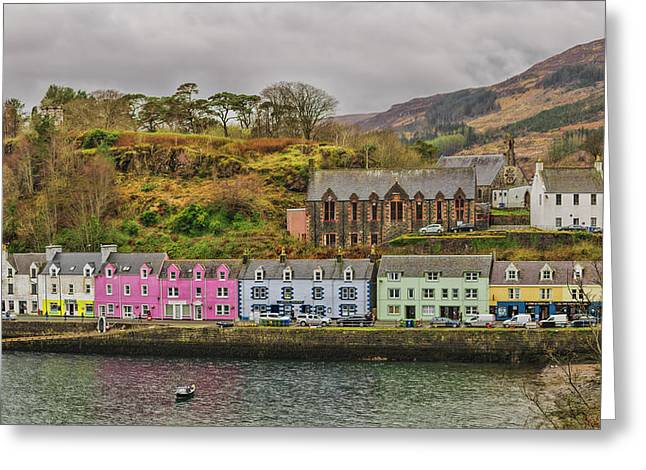 Portree Harbour Greeting Card by Mike Herdering