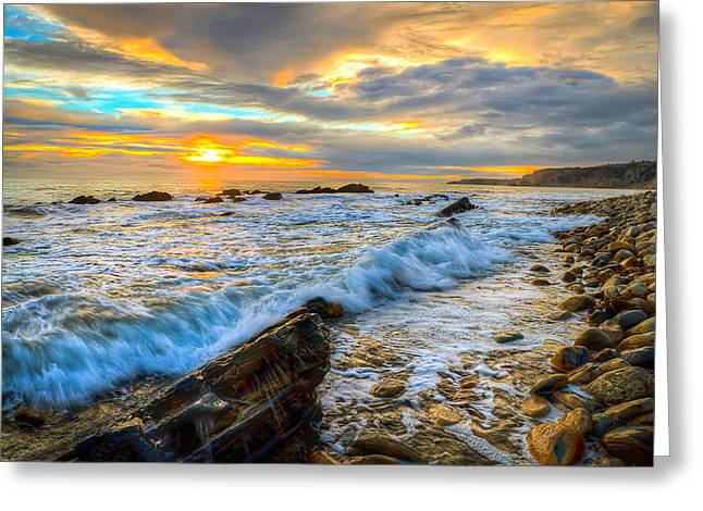 California Ocean Photography Greeting Cards - Portuguese Bend Beach Club - Sunset Greeting Card by R Scott Duncan