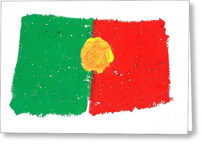Portuguese Flag Greeting Card by Gaspar Avila