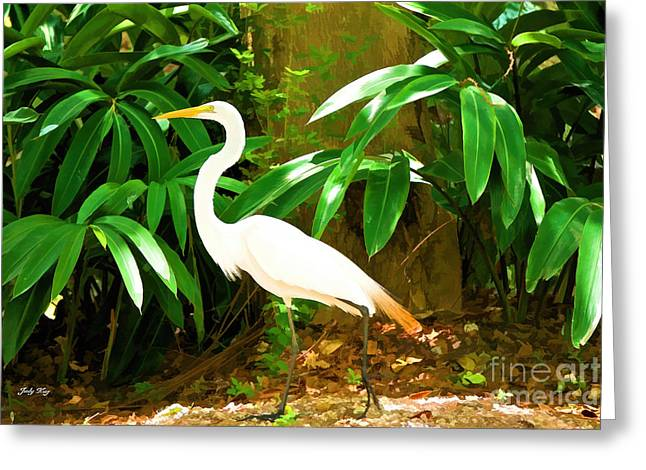 Wildlife Paintings Greeting Cards - Pose Perfect Greeting Card by Judy Kay