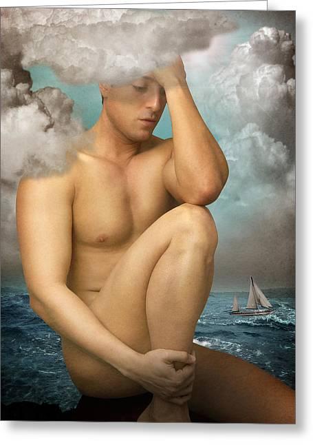 Poseidon Greeting Card by Mark Ashkenazi