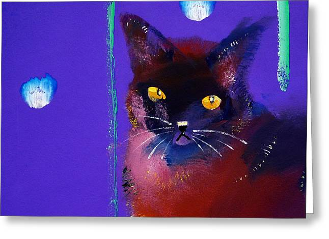 Harmonize Greeting Cards - Posh Tom Cat Greeting Card by Charles Stuart