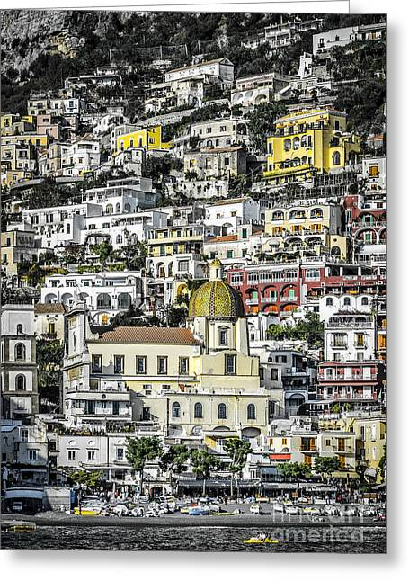 Ocean Vista Greeting Cards - Positano 1 Greeting Card by Paul Woodford