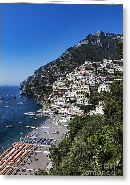 Charming Vistas Greeting Cards - Positano Beach Greeting Card by John Greim
