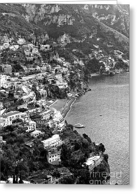 Print Photographs Greeting Cards - Positano Coast Greeting Card by John Rizzuto