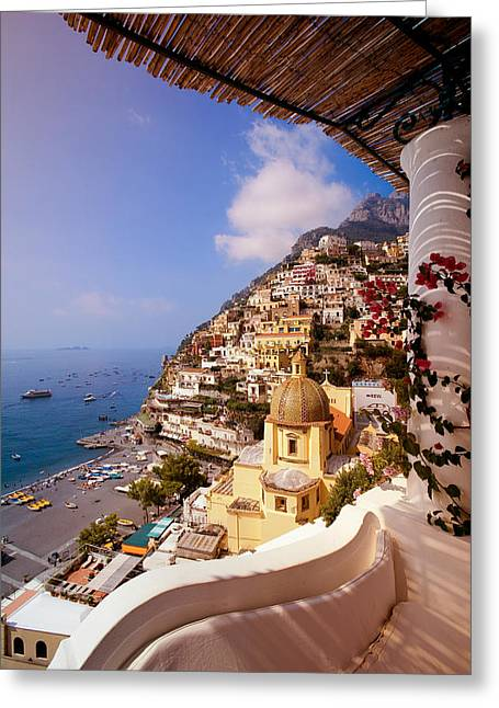 Shade Photographs Greeting Cards - Positano View Greeting Card by Neil Buchan-Grant