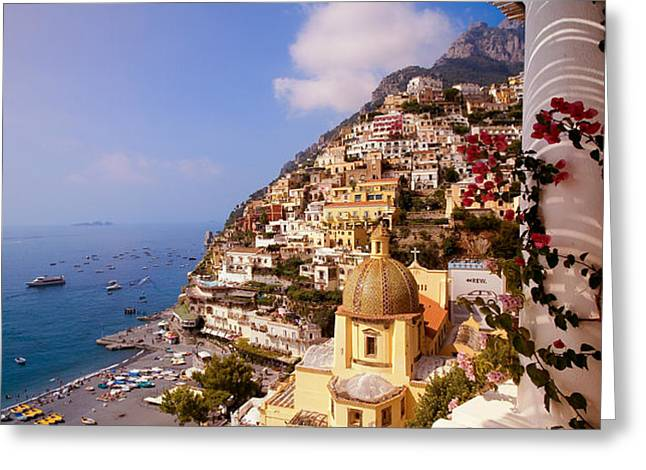 Positano View Greeting Card by Neil Buchan-Grant