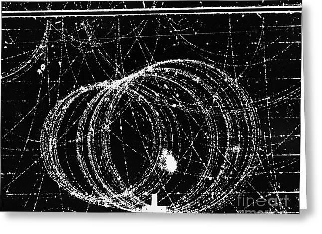 Particle Accelerator Greeting Cards - Positron Tracks Greeting Card by Omikron