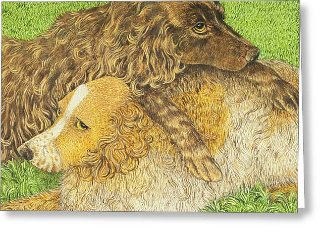 Love The Animal Paintings Greeting Cards - Possession Greeting Card by Pat Scott