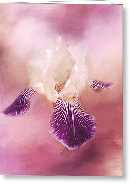 Jordan Paintings Greeting Cards - Possibilities - Iris Art Greeting Card by Jordan Blackstone