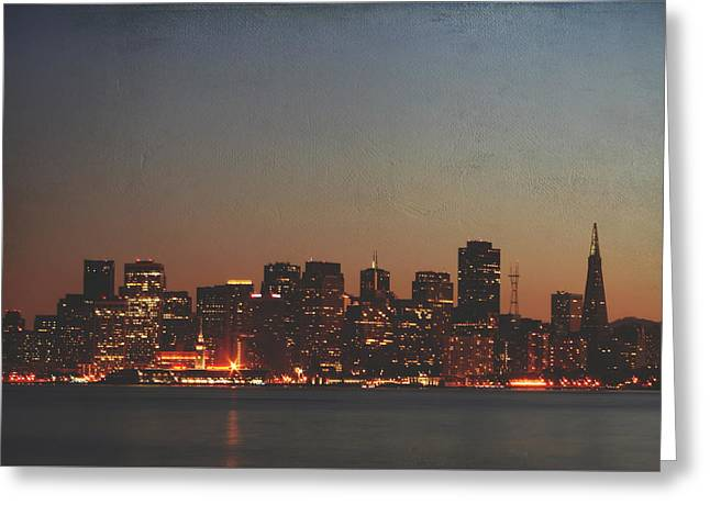 City Lights Digital Art Greeting Cards - Possibilities Greeting Card by Laurie Search