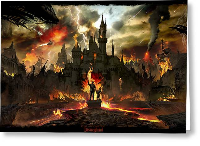 Post Apocalyptic Disneyland Greeting Card by Alex Ruiz