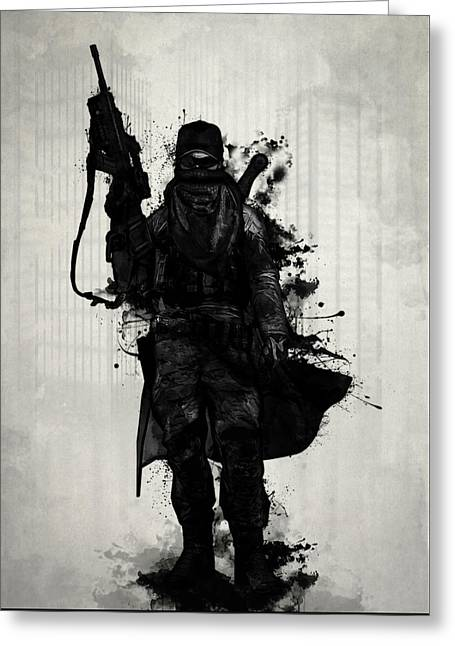 Apocalypse Greeting Cards - Post Apocalyptic Warrior Greeting Card by Nicklas Gustafsson
