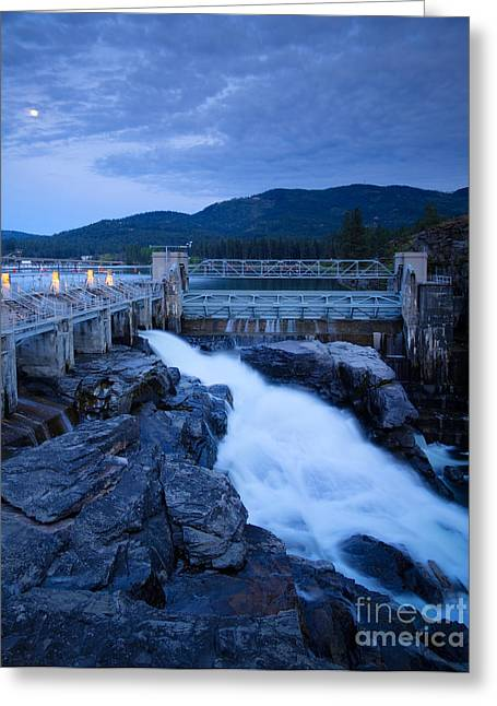 Hydro Greeting Cards - Post Falls Dam Greeting Card by Idaho Scenic Images Linda Lantzy