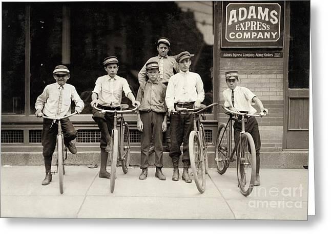 Postal Greeting Cards - Postal Messengers, 1911 Greeting Card by Granger