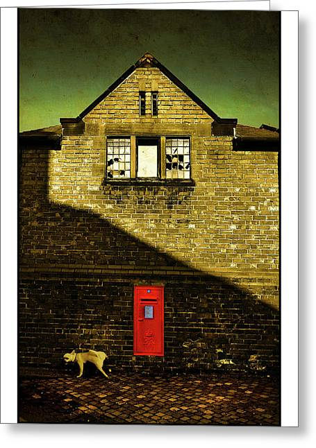 Urinating Greeting Cards - Postal Service Greeting Card by Mal Bray