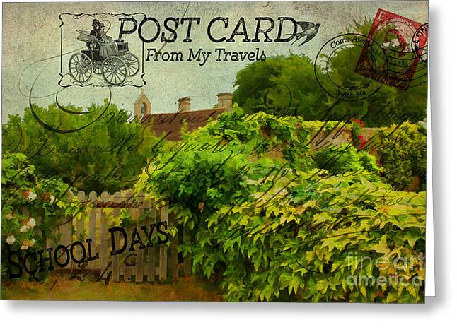 Shabbychic Greeting Cards - Postcard From My Travels. Greeting Card by ShabbyChic fine art Photography