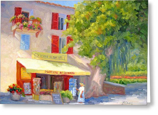 Provence Village Greeting Cards - Postcard from Provence Greeting Card by Bunny Oliver