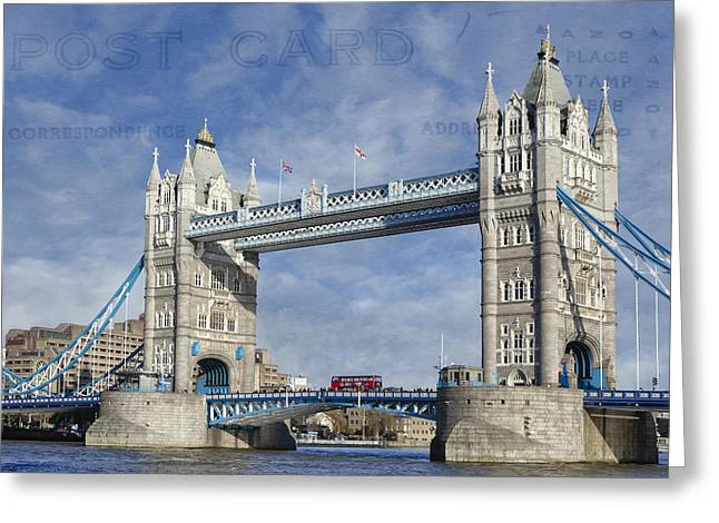London Structure Greeting Cards - Postcard Home Greeting Card by Joan Carroll