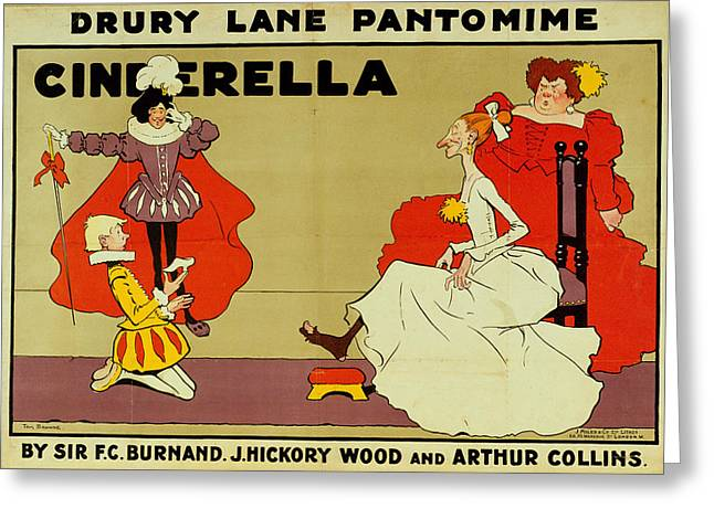 Poster for Cinderella Greeting Card by Tom Browne