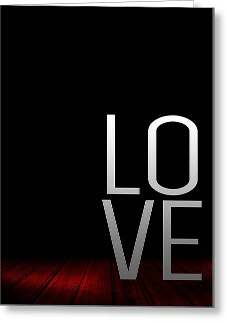 Gift Ideas For Her Greeting Cards - Poster LOVE Greeting Card by BestCit Art