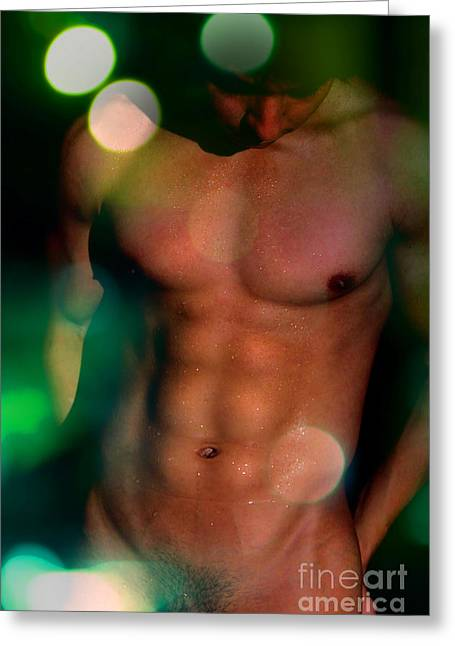Nudity Photographs Greeting Cards - Poster Man  Greeting Card by Mark Ashkenazi